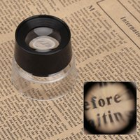 Wholesale 10X Multifunctional Cylinder Eye Magnifier Magnification Glass Loupe Lens Magnifying Tool for Jewelry Watch Coin Stamp E0157