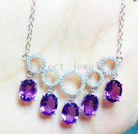 Wholesale Amethyst necklace Real natural amethyst Perfect jewelry Gemstone necklace Red gemstones Fine jewelry For women