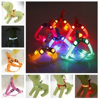 dog harness - Led Dog Harness Safety Dog Pet Belt Harness Glow LED Flashing Light Dog Collar Pet Belt Harness Leash Tether Dog Supplies Leashes Pet Light