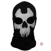 Wholesale S5Q Skull Ghost Halloween Toy Cosplay Headgear Motorcycle Bicycle Ride Hood Mask AAAEBE