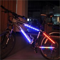 bicycle emergency light led - Bike Bicycle Lights Bicycle Parts Mountain Bike Accessories LED Emergency Light Spokes Decoration Lamp Safety Lamp Bicycle Light