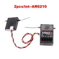 Wholesale 2pcs AR6210 DSMX Ghz CH RC DSM2 transmitte Receiver with Satellite for Spektrum AR6100 AR6100E AR6200 AR8000 AR9020