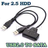 Wholesale NEW Blcak USB To SATA Pin Pin Adapter Converter Connector Sync Cable Line For Inch HDD Hard Disk Drive