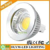Wholesale 50X Hot Sale MR16 COB Dimmable W W MR16 LED Spot Light V K K LM CE RoHS ETL Free DHL