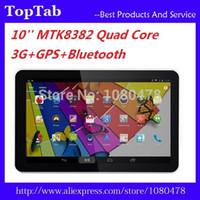 Livraison gratuite en gros-DHL 10 pouces MTK8382 quad core Android 4.4 3G GPS bluetooth 1G 8G double carte sim tablette fente d'appel téléphonique
