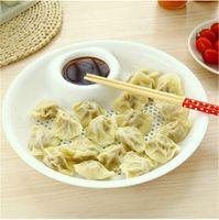 Wholesale Dumplings fruits dish small Diameter cm Food grade PP double Drain dish Vinegar dish cooking tool Q