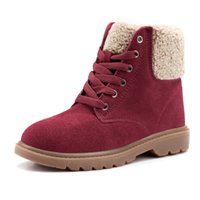 velcro - Winter warm ugs boots with velvet thickening low new Velcro short canister boots female cotton shoes boots ankle boots bota