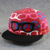 baseball sunglasses - Children Cartoon Fashion Sunglasses Baseball Cap Hip Hop Hats For Girls Boys Outdoors Casual Sports Snapback Caps Gorras Chapeu