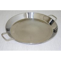 Wholesale Stainless Steel Seafood Tray CM quot Non Coating Sea Food Plate Faveolate Welding Handle Mirror Polish Europe Style BRWV