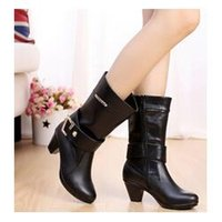 Wholesale new short boots women motorcycle boots high leg riding boots low heel leather shoes casual fashion boot nx8