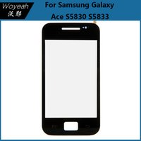 ace digitizer - Samsung Galaxy Ace S5830 S5833 Touch Screen Digitizer Panel Replacement White And Black Mobile Phone Front Glass Lens Repair Parts