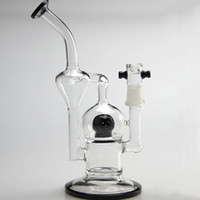 ball function - 2016 New Glass Bong With Two Function Double Recycler Glass Water Pipe Inline Ball Percolator Oil Rig Glass Hookah Free Shippin
