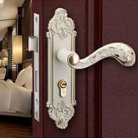 bathroom door handle with lock - new arrival handle door lock European bathroom and bedroom door lock with clours
