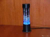 lava lamp - USB AC WATER PLANT NIGHT LIGHT LAVA LAMP BUBBLE BLUE bule