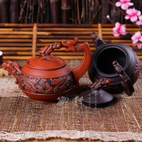 antique tea infusers - Yixing quality goods are recommended tea pure manual undressed ore mud zhu liang dragon playing the teapot bead antique teapot specials