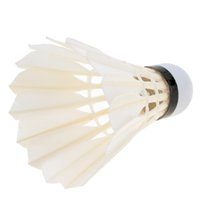 Wholesale High Quality Goose Feather Badminton Goose Feather Shuttlecocks Outdoor Sports Training Accessories White
