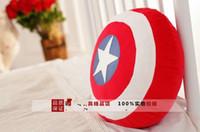 Wholesale New The Avengers Toys Superheroes Captain America Shields Plush Pillow Doll Toys Stuffed Toys cm