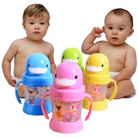 sippy cups - 20pcs Baby Cups Sippy Leak Proof Cute Zoo Duckbiled Sports Bottle Non toxic BPA free Child Feeding Sip Cups Training Drinking BZ0003