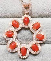 Wholesale Carnelian necklace pendant sterling silver Real original carnelian Perfect jewerly Wholesales For women DH