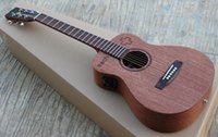 Wholesale OEM handmade music instrument solid mahogany spruce wood top string acoustic guitar China made guitars