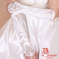 bead ring patterns - 2016 bride fingerless gloves hook finger large diamond pattern Long satin gloves wedding accessories HY00184