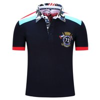 Wholesale New Brand Men Polo Shirt Mens Solid Polo homme Casual Short Sleeve Sport Golf Tennis Patchwork Cotton Plus Size