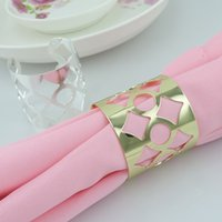 Cheap Cutout Metal Napkin Rings Hotel Wedding Supplies Party Table Decoration Accessories Napkin Cloth ring Wholesale R218