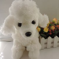 baby toy poodle - Hot pelucia dog plush dolls stuffed toys white poodle puppy teddy sitting boo peluches gift baby children brinquedos cm