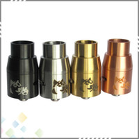 brass fitting - 2015 Doge V4 Atomizer Doge V4 Rebuildable RDA Doge Tank Dripper colors SS Black Copper Brass fit Mechanical Mod mm DHL Free