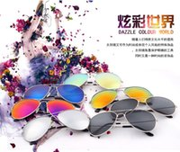Wholesale Fashion Film star Reflective Sunglasses Elegant classical avant garde personality simple Glasses For Men Women