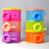 Wholesale 2015 New Layers Compartment Baby Infant Milk Powder Dispenser Container Storage Box Case Babies Product