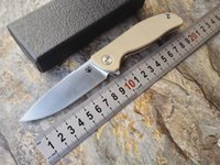 Wholesale 2016 High Quality Shirogorov Pattern F3 D2 Satin Polished Blade orange G10 Handle Outdoor Camping Survival Bearing Folding Knife EDC Tool