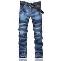 men color jeans - 2015 Fashion Men Jeans Blue Color Classic Straight Stylish Jeans For Men Cotton Denim Trousers Size
