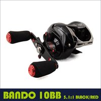 Wholesale Fishing baitcasting reel BB RB low profile baitcaster water drop wheel BLACK RED fashionable metal lure reel