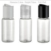 empty lotion bottles - 100 x ml Refillable Portable PET Clear Plastic Disk Cap Bottles cc Empty Lotion Cosmetic Container