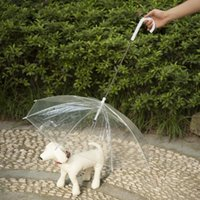 Wholesale Pet Umbrella Dog Umbrella Keeps your Pet Dry and Comfortable in Rain Novelty Gag Gift White