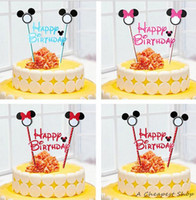 baby shower cake topper - Mickey Minnie mouse cupcake cake topper decoration cake flags baby shower birthday party supplies cake baking party decorating supplies