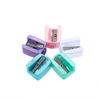 Wholesale 20Pcs Set Cosmetic Brushes Pencil Sharpeners Eyebrow Pencil Eyeliner Pen Stationery Sharpeners Random Color Delivery