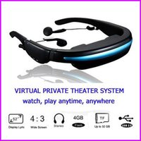 Wholesale 2013 New Mobile Theatre Video Glasses Movies on Inch Virtual Screen EyeWear Video Glasses With Built in gb memory