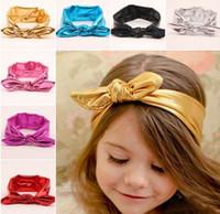 bunnies - Girls Headbands Bunny Ear Elastic Fashion Girl Hair Accessories Colors