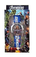 america watch box - New The avengers Captain America watch Children Cartoon Quartz Watch with boxes fbiao35