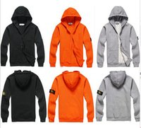 Wholesale Fall autumn and winter cotton hoodie men s clothing men hooded jacket thin stone mens jackets and coats tracksuit