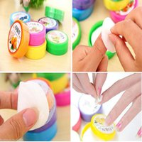 Wholesale 1Set New Nail Art Tool Polish Vanish Remover Pads Flavor Wet Wipes Paper Towel