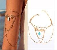 Wholesale 2015 Hotsale Women Lady Personality Punk Gothic Upper Arm Cuff Armlet Armband Bangle Bracelet