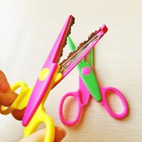 Wholesale lace DIY Scissors Scrapbook Paper Photo Tools Diary Decoration Safety Scissors Styles Selection