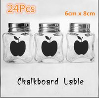 apple kitchen decor - 2015 Cute Chalk Pen Apple Chalkboard Label Removable Wall Stickers Kitchen Jar Sticky Decal Decor Paper Craft