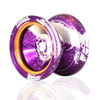 acid wash metal - MAGICYOYO Yostyle M002 April Acid Wash Color Anodized Surface and Stainless Center Bearing Purple Silver