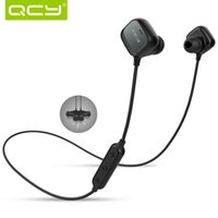 Wholesale QCY QY12 Wireless Sport Headphones Bluetooth Stereo In Ear Earphone With Microphone For iPhone Samsung Sony Huawei HTC LG