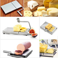Wholesale Stainless Steel Cheese Slicer Butter Cake Cutting Knife Kitchen Cooking Tool H16561
