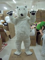 adult doll costumes - Animal dress up doll dress white polar bear Mascot Costume Fancy Dress Adult Size
